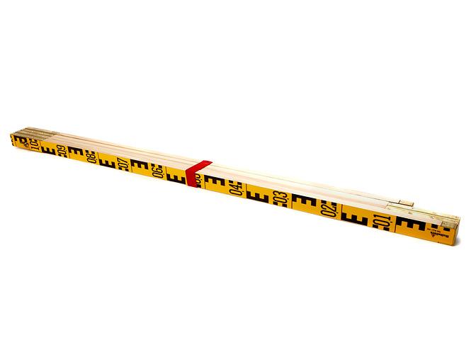 Avvägningsstång 4m/4-del doslibell